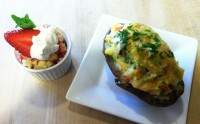 Baked Potato & Strawberry Shortcake