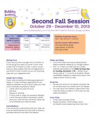 Second Fall Session