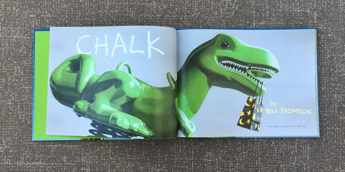 Bubbles Academy Book Recs for Kids: Chalk by Bill Thomson