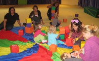 Tower Time in Miss Lauren's 2-3 yr. Creative Movement Class