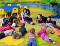 Preschool classroom: We focus on learning to listen and follow directions!