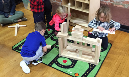 6 Stages of Development with Block Play